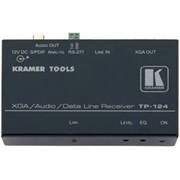 Приемник VGA, звуковых стерео (аналог и S/PDIF) и RS-232 сигналов из витой пары (TP), с регулировкой уровня и АЧХ TP-124 фото