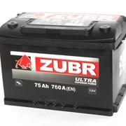 Аккумулятор автомобильный ZUBR Ultra 75 (L +) фото