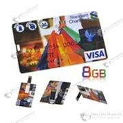 Красивая USB флешка в виде кредитной карты VISA (8GB) фото