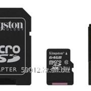 Карта памяти micro SDHC Kingston - 64GB - Class 10 фото