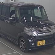 Микровэн турбо HONDA N BOX CUSTOM кузов JF1 класса минивэн модификация G TURBO гв 2012 пробег 136 т.км черный фото