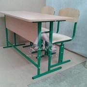 Парта-трансформер двухместная со стульями от производителя мебельной фабрики
