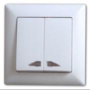 Выкл. двоной, внутренний VISAGE белый + подсветка фото