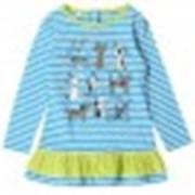 Платье КР 5325 голубоеозеро полоска к99 фото