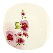 Тарелка обеденная 23см квадр OV1203 Орхидея фото
