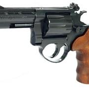 Револьвер ME-38 MAGNUM 4R, черный, деревянная рукоятка фото