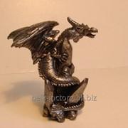 Фигурка сувенирная Дракон,металл,7 см,SUV3041. фото