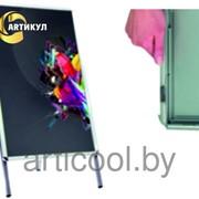 Штендер со сменной информацией раскладной двухсторонний фото