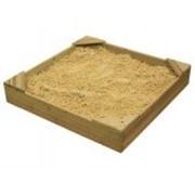 Деревянная песочница - №9 (ширина 150см) фото