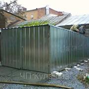 Гараж оцинкованный с двухскатной и односкатной крышей фото