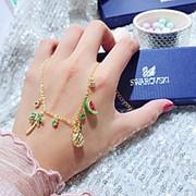Серебряный браслет Swarovski tropic позолота 18 к фото