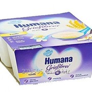 Пудинг манный с ванилью Humana Humana Baby Grie Vanille, 4х100 гр для питание детей от 8 месяцев массовая часть жира-3,1% фото