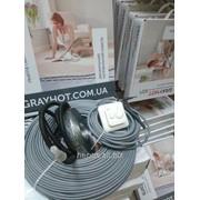 Теплый пол электрический GrayHot 12 м2 тонкий кабель двухжильный фото