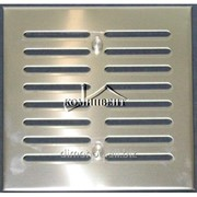 Решетка вентиляционная нержавеющая 120х140 c регуляцией фото