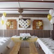 Оформление свадеб шариками, тканями, цветами фото