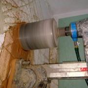 Алмазное сверление диаметр 100 мм железобетон за см прохода фото