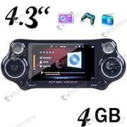 MP5 медиа плеер – игровая консоль с 4-х дюймовым экраном и встроенной памятью 4GB, камера, FM радио, диктофон, чтение электронных книг фото