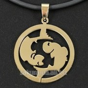 "Кулон ""Zodiacus Gold"" R / 12. Рыбы t30672 фото"