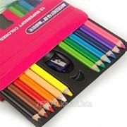 Набор цветных карандашей Marco Raffine SuperSoft, 12 цветов, с точилкой, детский фото