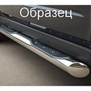 Пороги Chevrolet Tahoe 2008-2012 (вариант 1 труба с накладками 76 мм) фото
