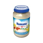 Пюре Humana 190г Яблоко-банан с творожком (с 6мес) фото