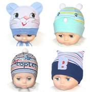 Трикотажная шапочка для новорожденного фото