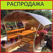 Беседка садовая для дачи Астра, Пион, Импласт. Усиленный каркас. Бесплатная Доставка. Код товара: 6691 фото