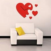 Часы настенные Сердце фото