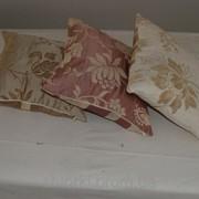 Комплект подушек бежевые, 3шт кПолосат_классика фото