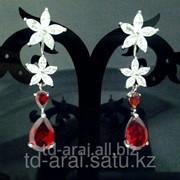 Серьги с кристаллами Swarovski, код 6200510 фото