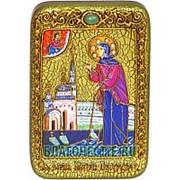 Олд Модерн Ксения Петербургская, святая блаженная, копия писанной иконы ручной работы под старину Высота иконы 15 см фото