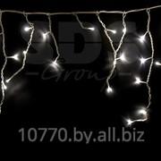 Гирлянда Айсикл (бахрома) светодиодный, 1,8 х 0,5 м, белый провод, 220В, диоды тепло-белые фото