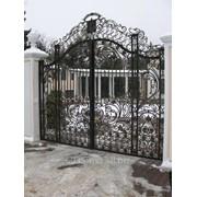 Ворота металлические фото
