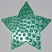 Мини коврики в ванную, зеленая звездочка ОРТО фото