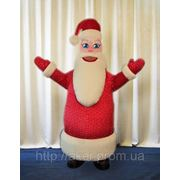 Надувной ростовой костюм Дед Мороз