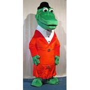 Надувной ростовой костюм Крокодил Генна