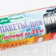 Пакеты для мусора рулон ПНД 60л, MIRPACK - Classic, 20шт,7 мкм белый фото