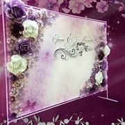 Пресс стена 3D, баннер на свадьбу с цветами фото