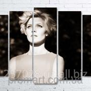 Модульна картина на полотні Погляд код КМ100150(132)-248-MIL фото