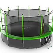 Батут с внутренней сеткой и лестницей EVO JUMP Internal 16ft (Green) + Lower net. фото