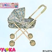 Коляска для кукол металлическая лежачая 21-2336 фото