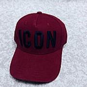 Кепка ICON Dsquared2 Бордовая фото