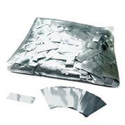 Металлизированное конфетти 17х55мм Серебро фото
