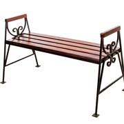 Скамейка металлическая Люкс без спинки фото