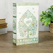 """Сейф-книга дерево шёлк """"Семейное дерево"""" 21х13х5 см фото"""