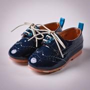 Туфли лаковые (Sh 10004 - blue) фото