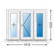 Окно ПВХ 1910*1520 пластиковое в спальню ческой планировки