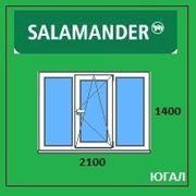 Окно ПВХ 2100х1400 (ШхВ), кредит, рассрочка, SALAMANDER фото