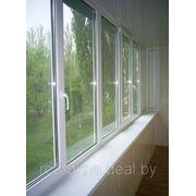 Балконная рама 1050*3000 фото