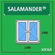 Окно ПВХ 1300х1400 (ШхВ), кредит, рассрочка, SALAMANDER фото
